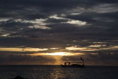 Jawa ηλιοβασιλέματος karimun Στοκ εικόνες με δικαίωμα ελεύθερης χρήσης