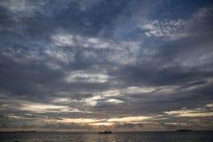 Jawa del karimun del cielo azul de la puesta del sol Fotos de archivo libres de regalías