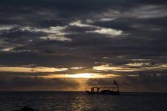 Jawa del karimun de la puesta del sol Imágenes de archivo libres de regalías