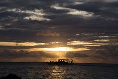 Jawa del karimun de la puesta del sol Foto de archivo libre de regalías