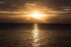 Jawa del karimun de la puesta del sol Fotografía de archivo libre de regalías