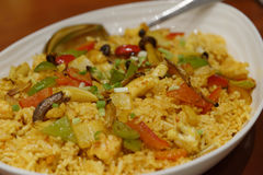 Jawa owoce morza smażący ryż Zdjęcie Royalty Free