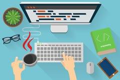 Jawa programistów miejsce pracy Royalty Ilustracja