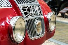 Jawa 750 supports de voiture de course à partir de 1935 dans le musée technique national photo stock