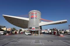 Jawad Petrol Station i Bahrain royaltyfria bilder