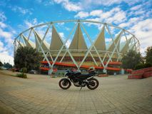 JAWAHARLAL NEHRU STADIUM Fotografia Stock Libera da Diritti