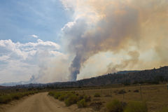 Jawbone Complex Fire. In Kern County, CA Stock Images