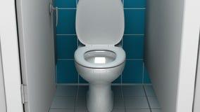 Jawna łazienka, 3d ilustracja Zdjęcia Stock
