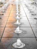 Jawna fontanna z wodnym pluśnięciem Fotografia Stock