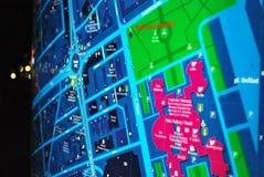 Jawna plenerowa uliczna mapa w nocy Zdjęcia Stock