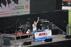 Jawna przegląda Co twarzy arena Mainz Obrazy Royalty Free