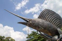 Jawna rzeźba sailfish zdjęcia stock