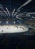 JAWNEGO dostępu wydarzenie! Chomutov, Ustecky kraj, republika czech - Styczeń 07, 2017: wnętrze nowa wielocelowa miasto arena pod Zdjęcie Royalty Free