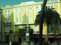 Jawnego parka Triana dzielnicy pomnikowy sąsiedztwo Vegueta Gra Obrazy Royalty Free