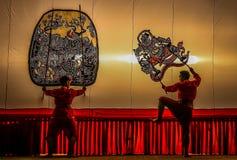 Jawnego przedstawienia cienia Uroczysta sztuka, Ratchaburi, Tajlandia Obrazy Royalty Free