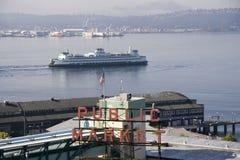 Jawnego rynku szczupaka miejsce Seattle obrazy stock