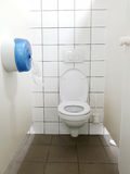 Jawnej toalety kabinka Zdjęcia Stock