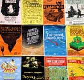 Jawni plakaty promuje wydarzenia w Toruńskim, Polska zdjęcie stock