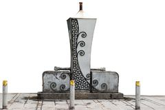 Jawny artesian well odizolowywający na białym tle Fotografia Stock