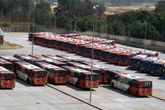 Jawny autobusowy parking teren w Johannesburg Obraz Royalty Free