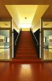 jawny czerwieni szkoły schody Obrazy Stock