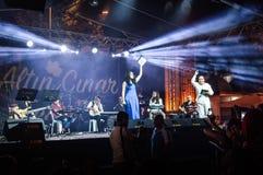 Jawny festiwal muzyki Zdjęcia Royalty Free
