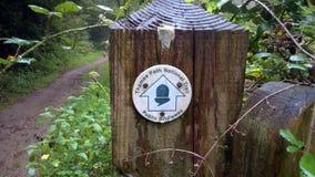 Jawny footpath znak dla Thames ścieżki Krajowego śladu Obrazy Royalty Free