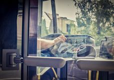 Jawny kierowca autobusu Obrazy Royalty Free