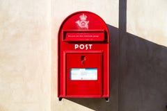 Jawny listowy pudełko w Dani Obrazy Royalty Free