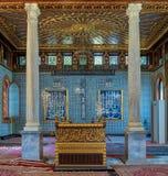 Jawny meczet Manial pałac książe Mohammed Ali Tewfik z drewnianymi złotymi ozdobnymi sufitami, Kair, Egipt zdjęcia stock