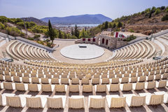 Jawny na wolnym powietrzu theatre w Salamina wyspie, Grecja Zdjęcie Stock