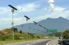 Jawny oświetlenie w Brazylia opierał się na energii słonecznej Zdjęcia Royalty Free