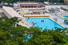 Jawny pływacki basen w Hong Kong Fotografia Stock
