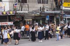 Jawny przystanek autobusowy w Bangkok Obraz Stock