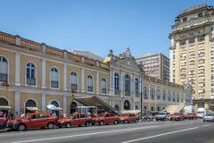Jawny rynek Mercado Publico w śródmieściu - Porto Alegre, rio grande robi Sul, Brazylia zdjęcie royalty free