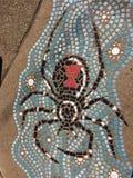 Jawny sztuka pająk w Albuquerque zdjęcia stock