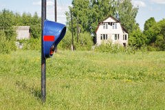Jawny telefon w wsi Zdjęcie Royalty Free