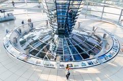 Jawny wnętrze Reichstag budynek obraz royalty free
