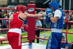Jawny występ dziewczyn boksować Zdjęcia Stock