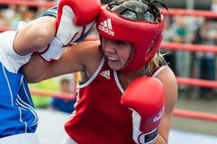 Jawny występ dziewczyn boksować Obraz Stock