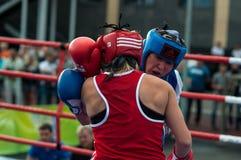 Jawny występ dziewczyn boksować Fotografia Stock