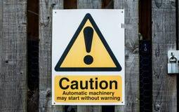 Jawny znak ostrzegawczy Obrazy Royalty Free