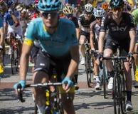 JAWORZNO, ПОЛЬША - 31-ОЕ ИЮЛЯ 2017: Велосипедисты в начале t Стоковая Фотография