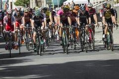JAWORZNO, POLOGNE - 31 JUILLET 2017 : Cyclistes au début du t Photographie stock