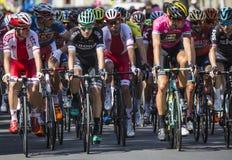 JAWORZNO, POLOGNE - 31 JUILLET 2017 : Cyclistes au début du t Photo libre de droits
