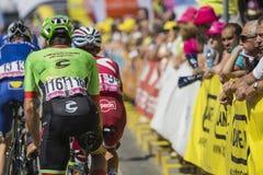 JAWORZNO, POLOGNE - 31 JUILLET 2017 : Cyclistes au début du t photos stock