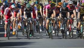 JAWORZNO, POLOGNE - 31 JUILLET 2017 : Cyclistes au début du t Image libre de droits