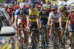 JAWORZNO, POLOGNE - 31 JUILLET 2017 : Cyclistes au début du t Photo stock