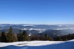 Jaworzyna山在波兰 库存照片