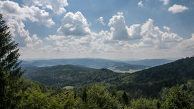 Jaworzyna Krynicka Mountains in Poland Stock Images